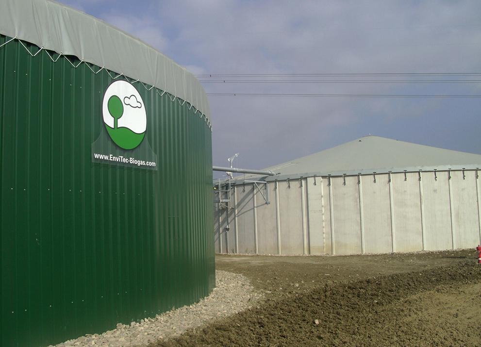 L'impianto a biogas a Bondeno