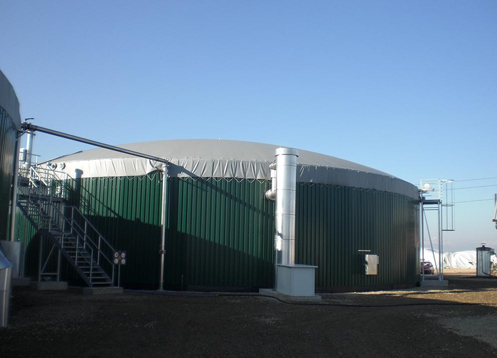 L'impianto a biogas a Casalvolone