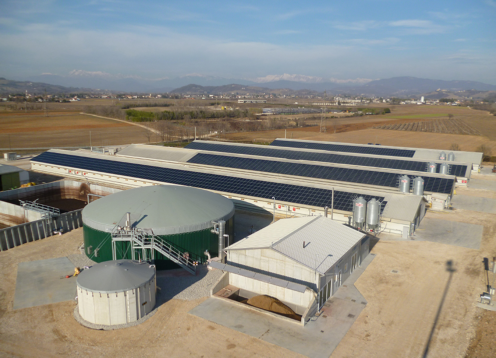 L'impianto a biogas a Corno di Rosazzo