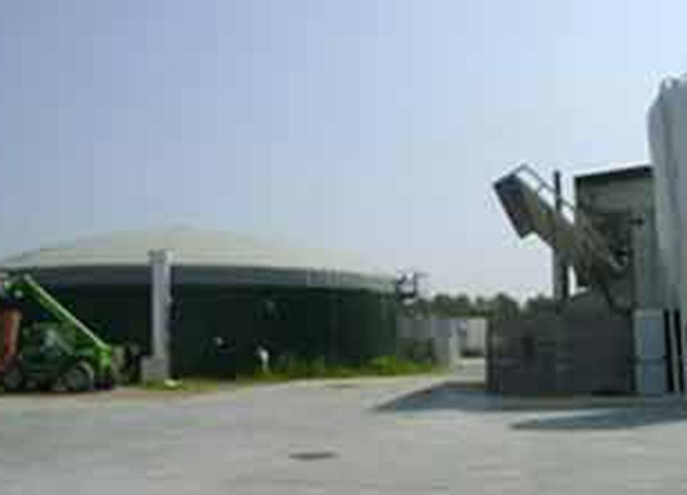 L'impianto a biogas a Casolta di Mulazzano