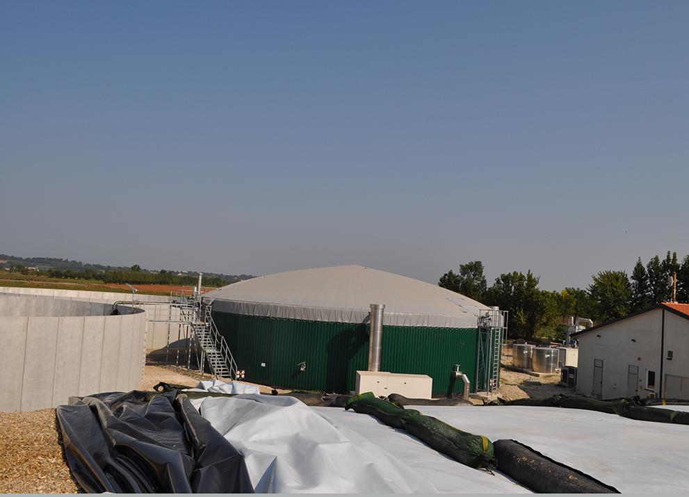 L'impianto a biogas a Volta Mantovana