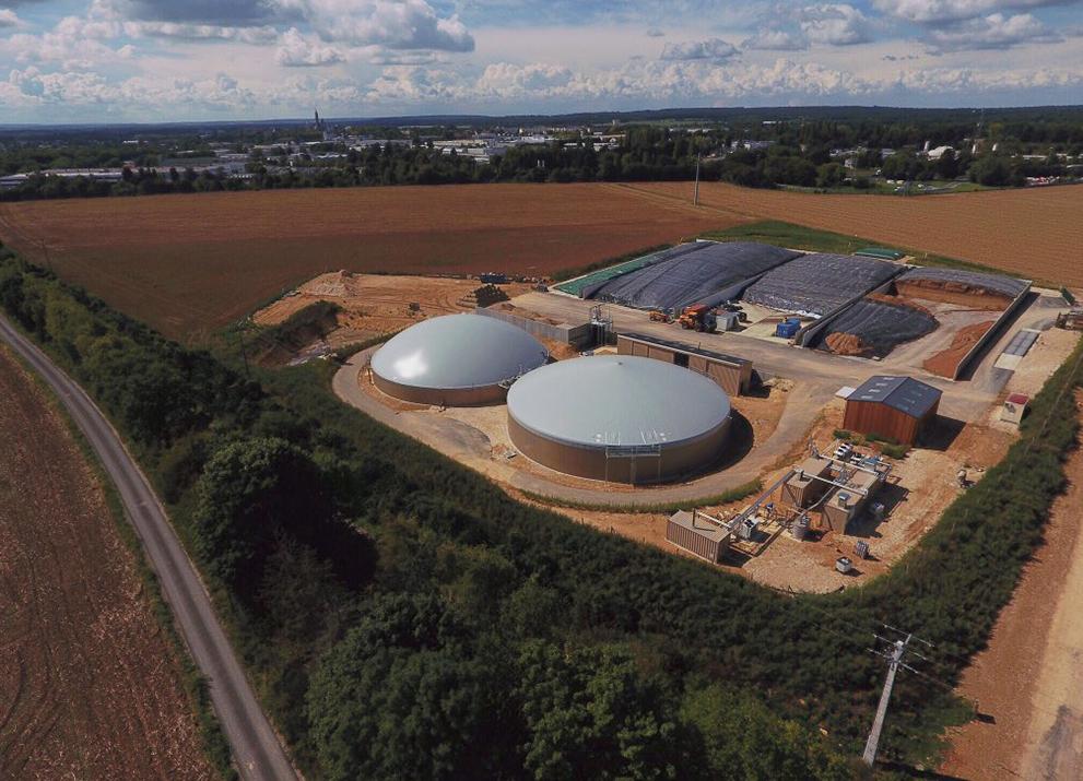 Una struttura modulare compatta garantisce ai clienti la massima flessibilità - fornitura di gas EnviThan in Francia